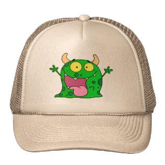 Monster Funny Comic Drawing Cartoon Cute Happy Mesh Hats