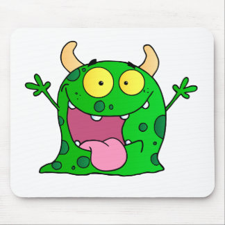 Monster Funny Comic Drawing Cartoon Cute Happy Mouse Pad