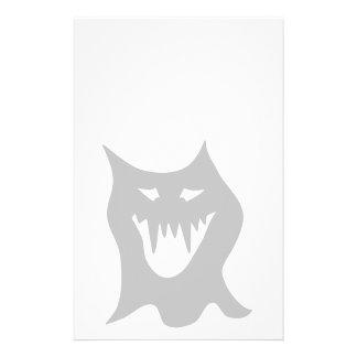 Monster Ghost Cartoon in Gray Custom Flyer