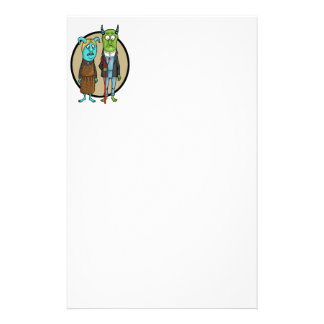 Monster Gothic Personalized Stationery
