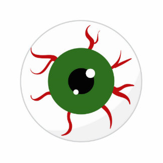 Monster Green Bloodshot Eyeball Photo Cutouts
