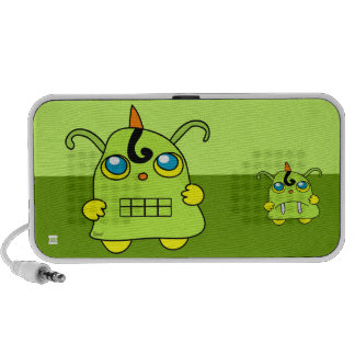 Monster Green Potato Doodle iPod Speakers