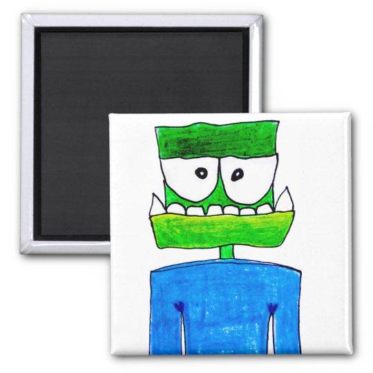 """Monster """"Groen"""" Square Magnet"""