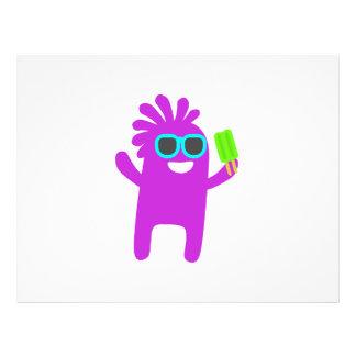 Monster holding a popsicle cartoon 21.5 cm x 28 cm flyer