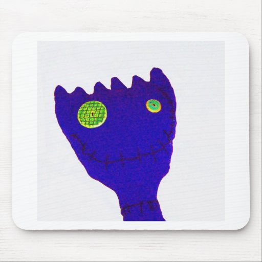 Monster in  Blue Mouse Pads