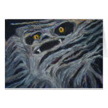 Monster in the wood greeting cards