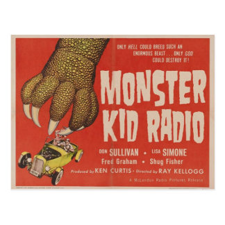 Monster Kid Radio Meets The Giant Gila Monster Postcard