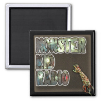 Monster Kid Radio Sign Magnet