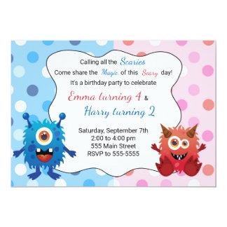 Monster Kids Birthday Invitation