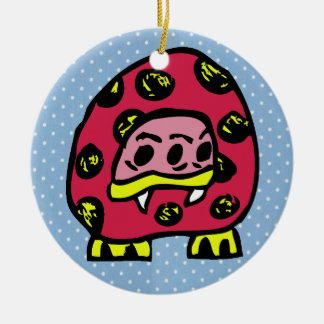 Monster Ladybug Christmas Ornament