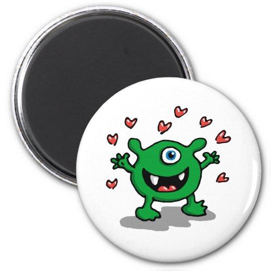 Monster Love 6 Cm Round Magnet
