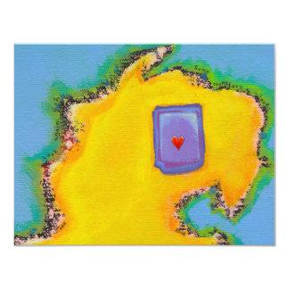 Monster love fun modern abstract monsters art 11 cm x 14 cm invitation card
