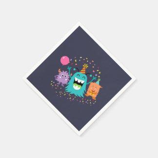 MONSTER MASH BIRTHDAY monster party napkins Disposable Serviette