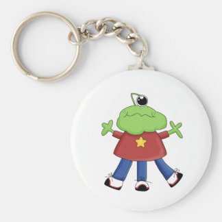 Monster Mash · Green One-Eyed Monster Basic Round Button Key Ring