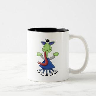 Monster Mash · Green One-Eyed Monster Two-Tone Mug