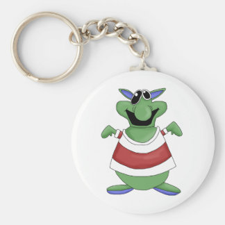 Monster Mash · Green Screw-Eyed Monster Basic Round Button Key Ring