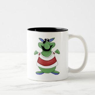Monster Mash · Green Screw-Eyed Monster Two-Tone Mug