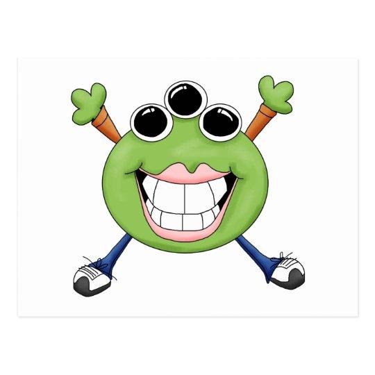 Monster Mash · Green Three-Eyed Monster Postcard