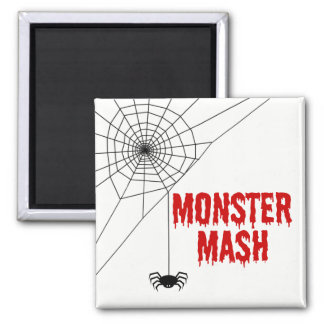 Monster Mash Halloween Spider Web Magnet
