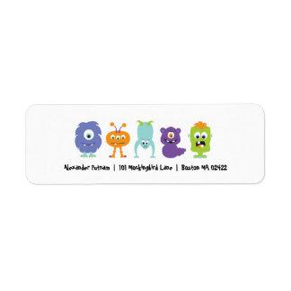 Monster Mash Return Address Label
