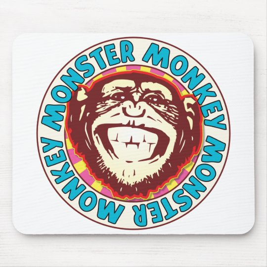 Monster Monkey Mouse Pad