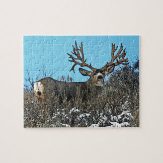Monster mule deer buck jigsaw puzzle