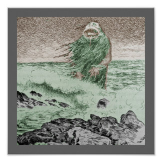 Monster Nokken Walking Out of the Water Poster