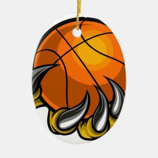 Monster or animal claw holding Basketball Ball Christmas Ornament