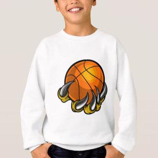 Monster or animal claw holding Basketball Ball Sweatshirt