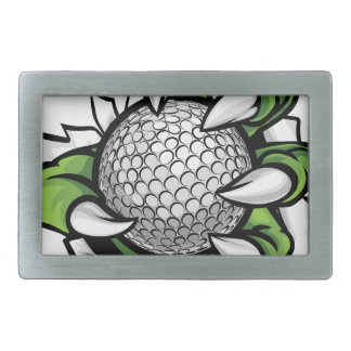 Monster or animal claw holding Golf Ball Belt Buckle
