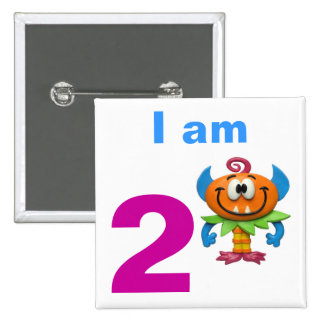 Monster Party 15 Cm Square Badge