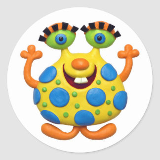 Monster Party Classic Round Sticker