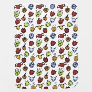 Monster Pattern Baby Blanket
