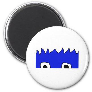monster peek 6 cm round magnet
