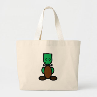Monster (plain) large tote bag