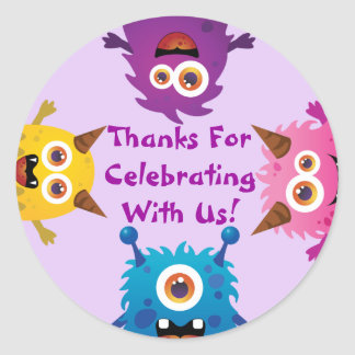 Monster (Purple)Invitation/Thank You/Favor Sticker