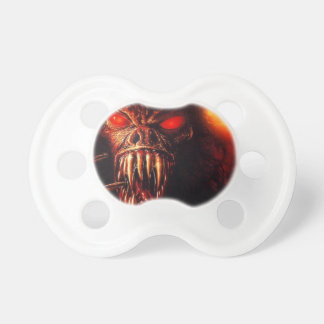 monster red eyes with fangs baby pacifiers