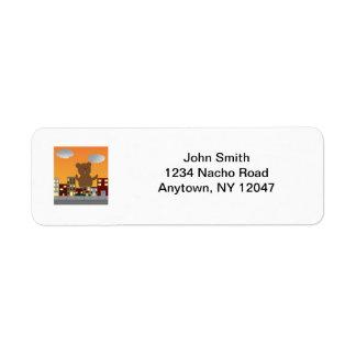 Monster Road Avery Label Return Address Label