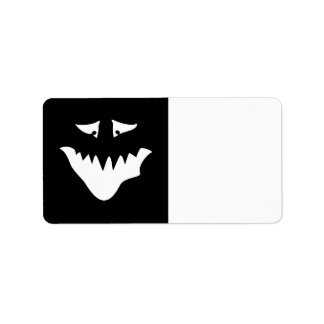 Monster Scary Face, in White. Label