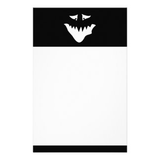 Monster Scary Face in White Stationery Paper