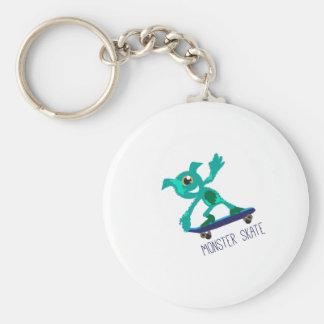 Monster Skate Basic Round Button Key Ring