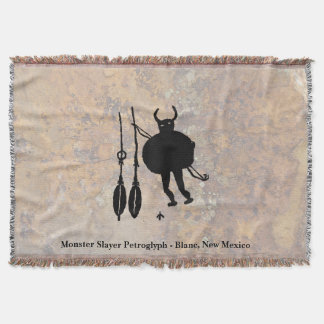 Monster Slayer, Blanco, New Mexico Throw Blanket