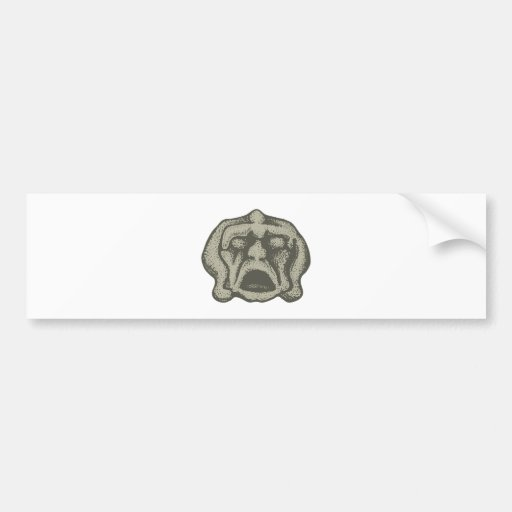 Monster stone stone bumper sticker