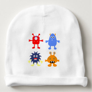 Monster Themed Baby's Cotton Rib Infant Hat Baby Beanie