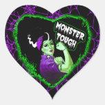 Monster Tough Heart Stickers