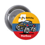 Monster Truck 4th Birthday Buttons