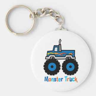 Monster Truck Basic Round Button Key Ring