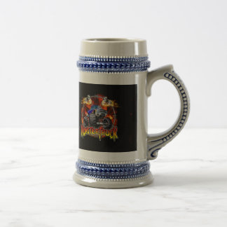 Monster Truck blue on Fire Beer Stein