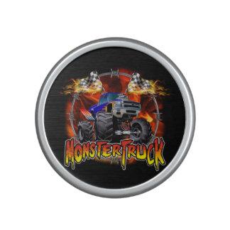 Monster Truck blue on Fire Bluetooth Speaker
