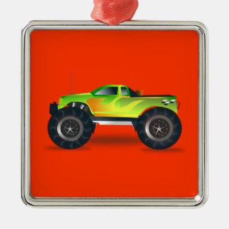 Monster Truck - Green Christmas Ornament
